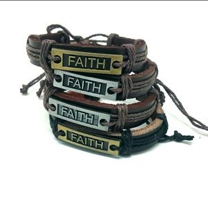 4 Leather Faith Unisex bracelets
